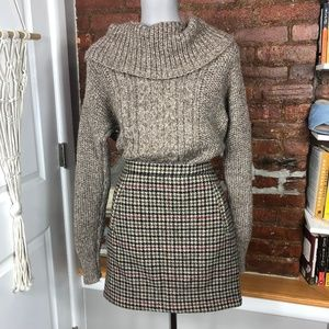 J.Crew Mini Check Brown Skirt 4